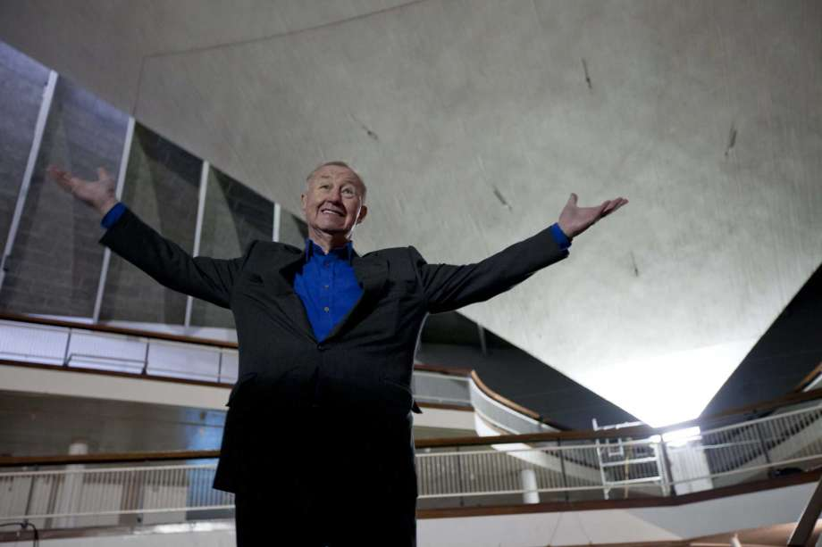 FILE - In this Tuesday, Jan. 24, 2012 file photo, British designer and museum founder Sir Terence Conran poses for photographs during a media event to unveil plans for the new British Design Museum in London. Terence Conran, the pioneering British designer, retailer and restaurateur, has died at age 88. His family said in a statement that Conran died peacefully at his home on Saturday, Sept. 12, 2020. Photo: Matt Dunham, AP / Copyright 2020 The Associated Press. All rights reserved.