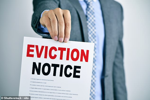 Deadline: The Government's ban on evictions ends on October 1, meaning legal action can then be taken to evict tenants