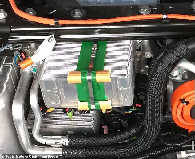 Tesla's new Model Y vehicle costs more than $52,000, but it seems the firm 'made a run to Home Depot' for some the vehicle's parts. Images of the car's cooling system surfaced online showing the structure is patched by faux wood trim