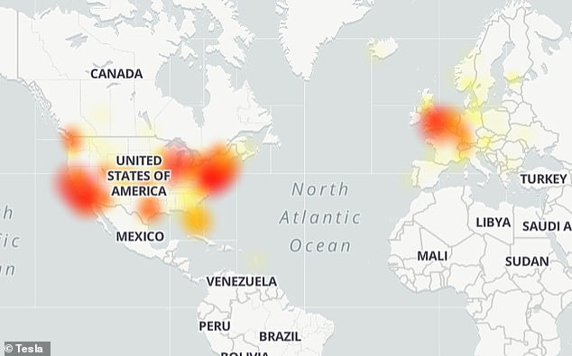 The outage appeared around 11:00am ET, with some Tesla owners saying they cannot connect to their car through the mobile app.According to Down Detector, the outage is stretching across the US and over into parts of Europe