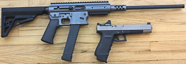 TNW Aero Survival Rifle and Glock 10mm