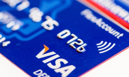 A Visa debit card