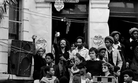Crowds enjoying carnival, Notting Hill, 1979.