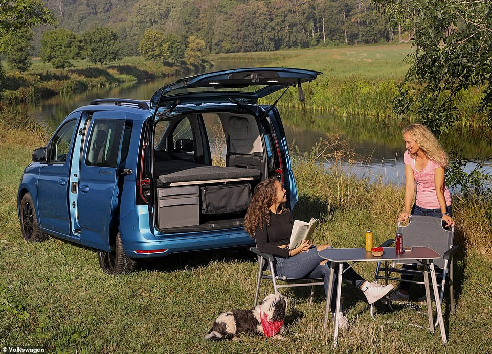 The Caddy California camper even has a section to store this lightweight picnic chair and table set