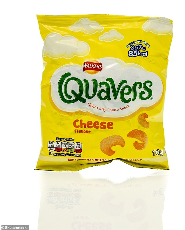 The 'best of a bad lot' in the crisps category was a Quavers multipack. None of the individual packets of crisps were easily recyclable, Which? said