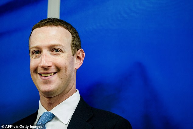 The announcement of the launch window for the smart glasses was made by Mr Zuckerberg, pictured, during the keynote of the virtual Facebook Connect conference