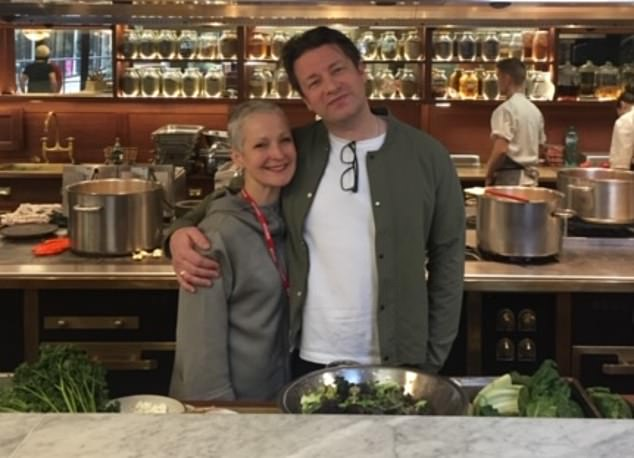 As well as advising chef Jamie Oliver (pictured) during his school meals campaign and working with David Beckham — helping him with his diet as a footballer before the World Cup