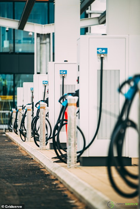 The site will have 30 rapid car chargers in total