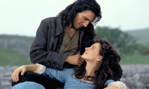 Ralph Fiennes and Juliette Binoche in the 1992 Wuthering Heights film.
