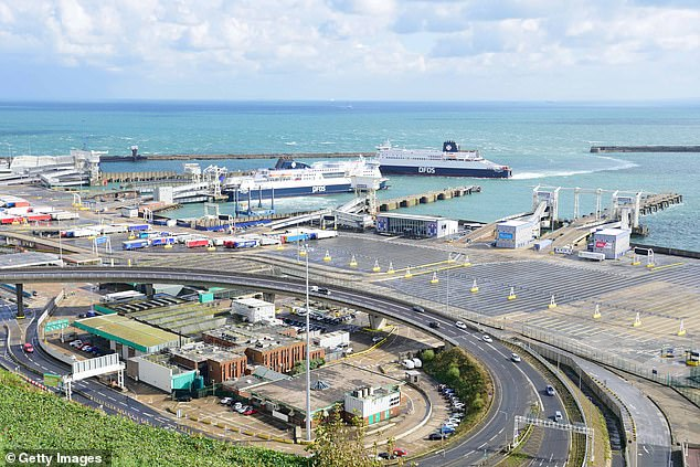 While problems at Dover (below) are often more high profile, the Suffolk port of Felixstowe was described by the UK's freight trade body as 'more important to Britain's international trade'