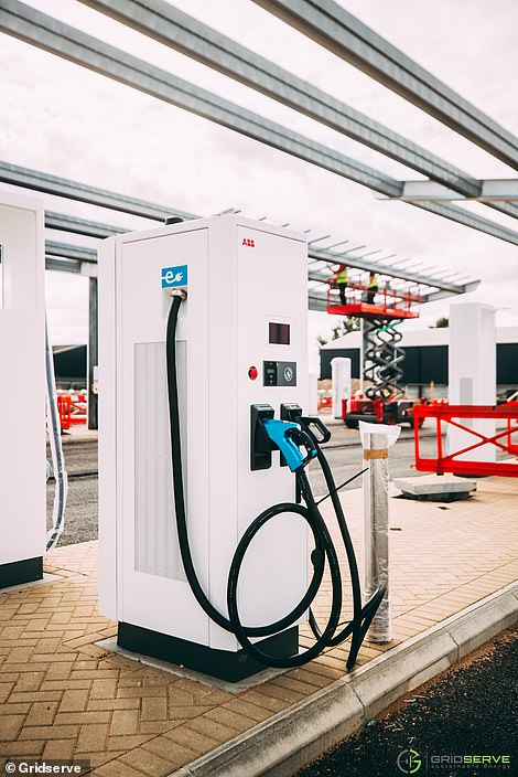 24 will be provided by ABB and provide charging for all EV models. There will also be 6 Tesla Superchargers dedicated to the brand's models