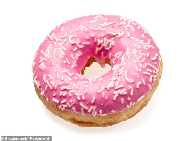 Action on Sugar found 65 per cent of products had the equivalent of two teaspoons of sugars or more in just one single portion – the same as eating an iced doughnut bought from the bakery in Sainsbury's, Tesco, or Asda (pictured). But some had more