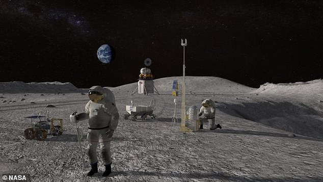 Lunar surface on a Saturday night: NASA previously released a detailed plan for an 'Artemis Base Camp' that will be home to first woman and next man on the moon in 2024