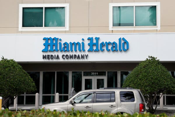 The Miami Herald said it would no longer publish Libre, a paid advertising supplement in El Nuevo Herald, a sibling publication.