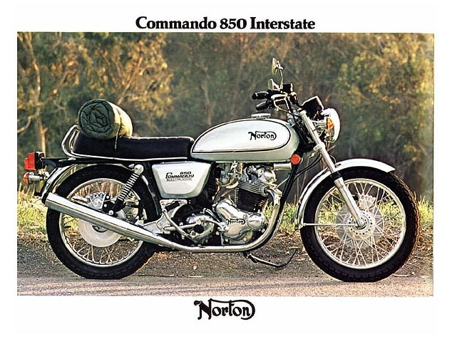 This is how the Norton Commando 850 Interstate would look if it was unpacked and assembled