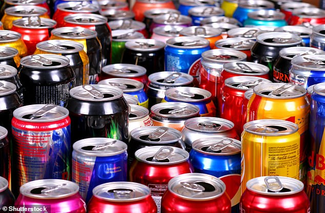 Fizzy drinks cans including Coca Cola and Red Bull are widely recyclable, unlike other forms of food packaging