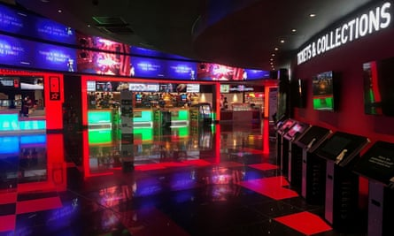A cinema foyer at a Cineworld site
