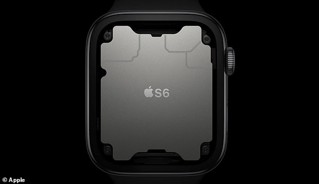 The Series 6 is also 26 percent faster than its predecessors and is equipped with a high-performance dual processor used in the iPhone 11 - just redesigned into a smaller version
