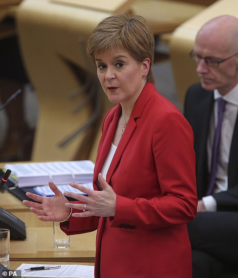 Scotland's First Minister Nicola Sturgeon copied the 'rule of six' on social gatherings - but declared that children under 12 will be exempt