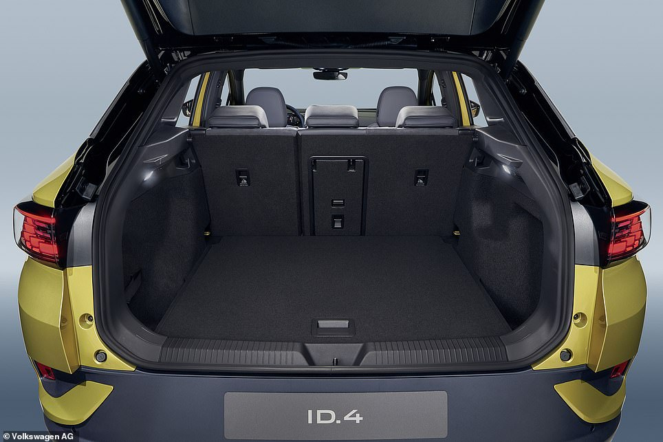 With the rear seats in the upright position, the ID.4 has a capacious 540 litres of loading space