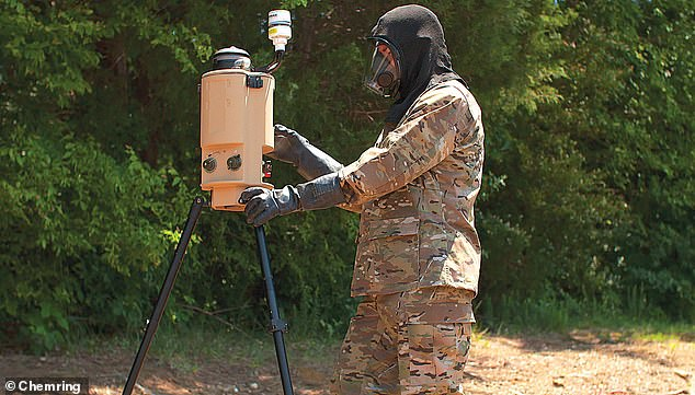 Chemring's equipment includes the'Resolve Light' Electronic Warfare system and the Aerosol and Vapor Chemical Agent Detector, better known as AVCAD