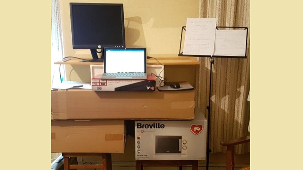 home made desk