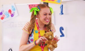 Ellie White as Miss Fun-With-Numbers in the CBBC children's TV programme Class Dismissed.