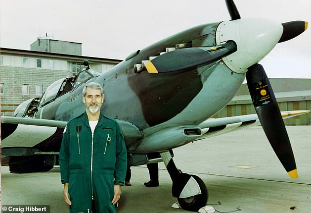 'Disgrace': Former pilot Kenneth Morris with a Spitfire that he flew in 2000