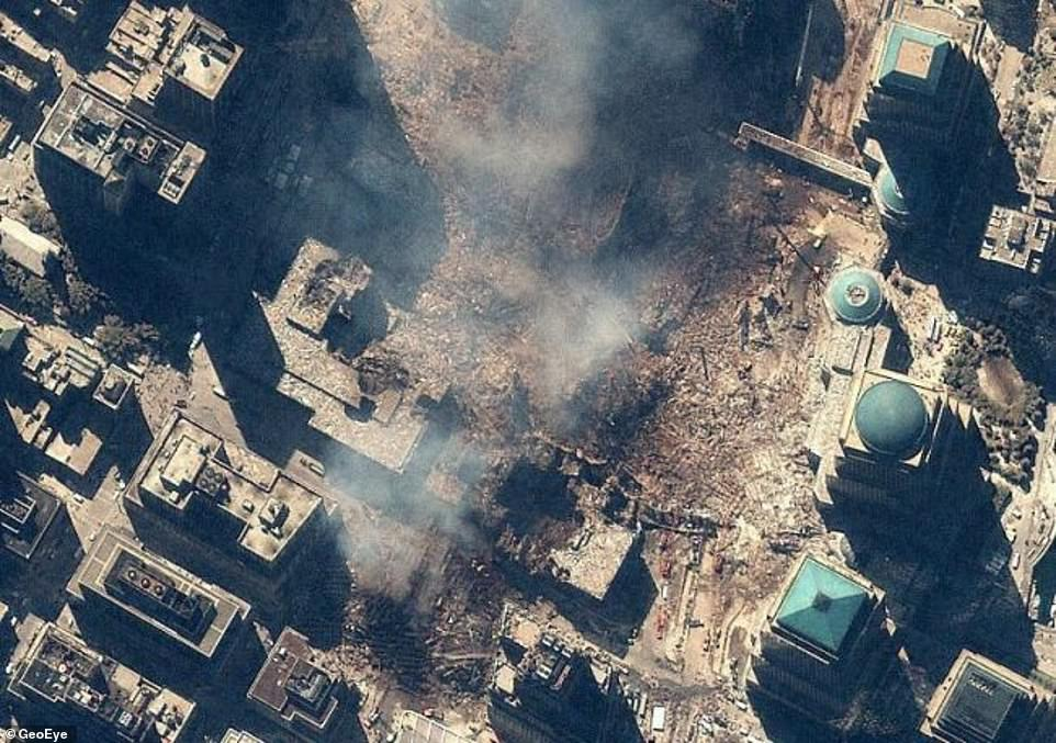 IKONOS took another image on September 15, giving the world an up-close look at ground zero, which was nothing more than debris and dust