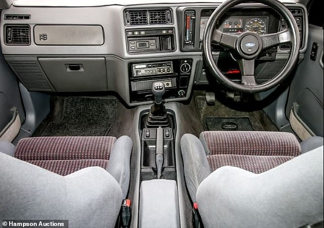 The interior looks totally unmolested and in very good condition