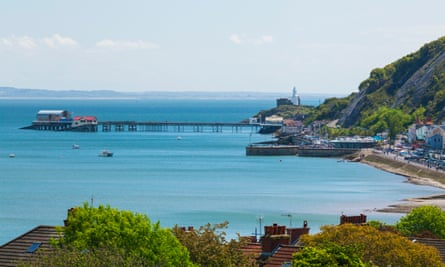 Mumbles Pier and Lighthouse.