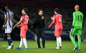 Frank Lampard after the 3-3 draw at West Brom.