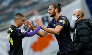 Newcastle United's Andy Carroll comes on as a substitute to replace Miguel Almiron.