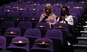 Theatregoers at the start of Sleepless the Musical at the Troubadour Wembley Park theatre in London on September 10.