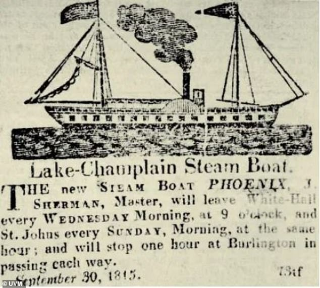 The phoenixferried people and cargo between New York, Vermont and what is now Quebec, Canada.In 1817, the Phoenix carried President James Monroe from Burlington, Vermont to Plattsburgh, New York