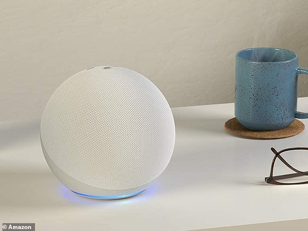 The All-new Echo from Amazon boasts a bright LED light ring at the base of the sphere