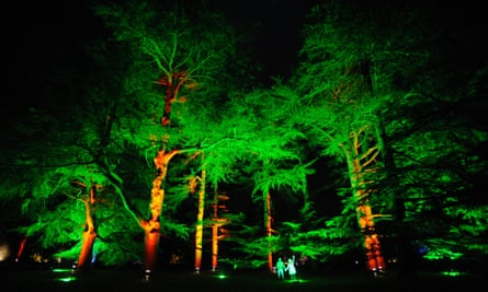 The National Arboretum, Enchanted Christmas, light display.