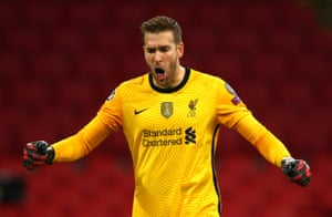 Adrian of Liverpool celebrates victory.