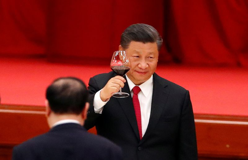 © Reuters. FILE PHOTO: 71st anniversary of the founding of the People's Republic of China