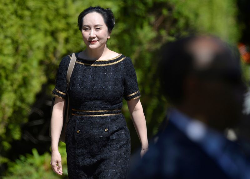 © Reuters. Huawei Technologies Chief Financial Officer Meng Wanzhou leaves her home to attend a court hearing in Vancouver