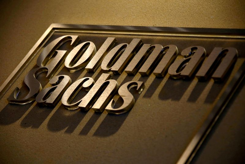 © Reuters. FILE PHOTO: A sign is displayed in the reception of Goldman Sachs in Sydney