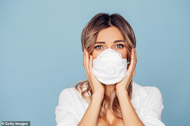 A YouGove survey found that as many as 85 per cent of us aren't washing our fabric face coverings properly in between uses. (Stock image)