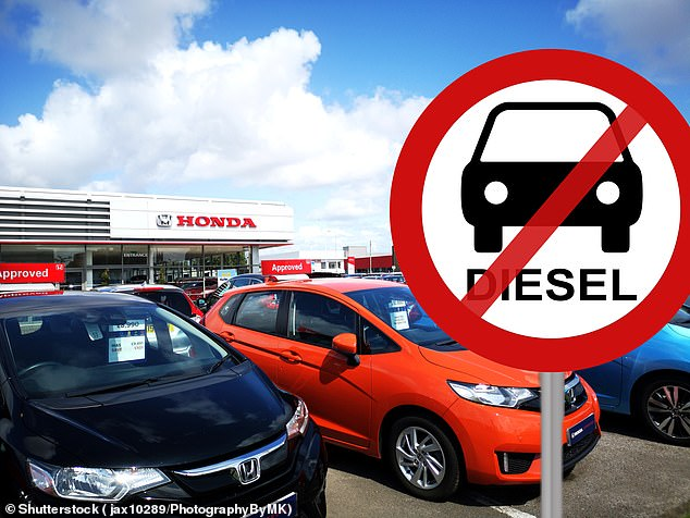 At death's door: Honda is the latest car maker to confirm it will no longer sell new diesel models in showrooms due to a lack of demand and shift to electrified vehicles