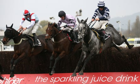 Rouge Vif, left, on his way to an impressive victory at Cheltenham.