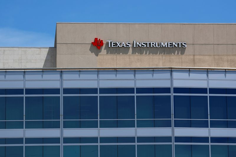 © Reuters. A Texas Instruments Office is shown in San Diego, California