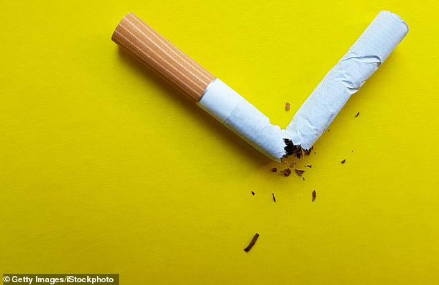 Nicotine - the main addictive element of cigarettes - is emerging in studies as a promising treatment for Parkinson's, ADHD, dementia, schizophrenia and even coronavirus. (Stock image)