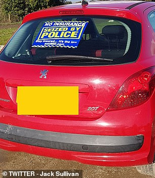 Sussex Police has also began tweeting about the campaign and uninsured drivers in Bognor Regis being caught