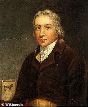 Edward Jenner pictured in a portrait
