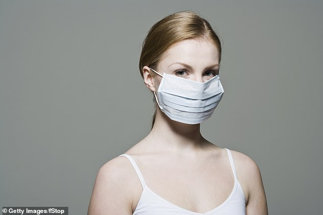 The survey also found that more than half of those wearing disposable masks are not throwing them after use. (Stock image)