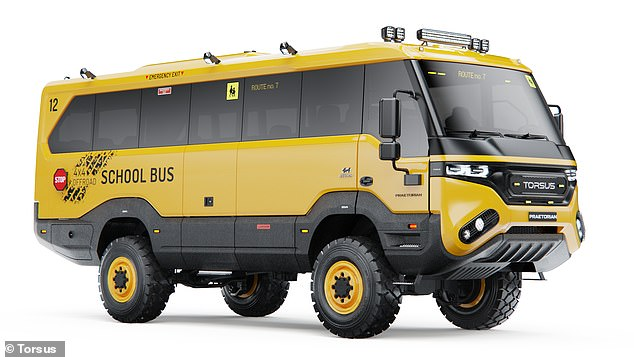 The entry-level bus starts at €166,000 (around £150,000) and is one of a varying number of conversions of the Praetorian bus